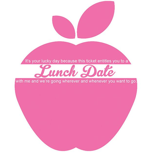 Lunch ticket apple pink