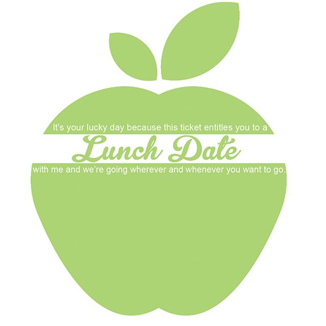 Lunch ticket apple green